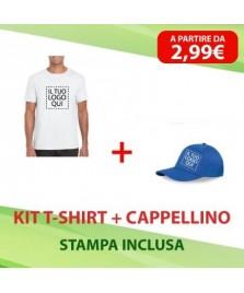 Kit T-shirt + Cappellino personalizzati vari colori