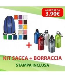 Kit Sacca + Borraccia in alluminio