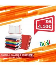 AGENDA CON ELASTICO + PENNA E ASTUCCIO15X21CM