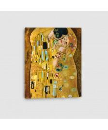 Bacio di Klimt - Quadro su Tela - Verticale