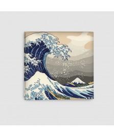 La grande onda - Quadro su Tela - Quadrato