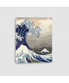La grande onda - Quadro su Tela - Verticale