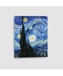 Notte Stellata - Quadro su Tela - Verticale
