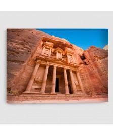 Al Khazna, Petra, Giordania - Quadro su Tela - Rettangolare