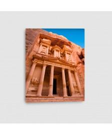 Al Khazna, Petra, Giordania - Quadro su Tela - Verticale