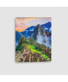 Machu Picchu, Cusco, Perù - Quadro su Tela - Verticale