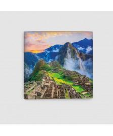 Machu Picchu, Cusco, Perù - Quadro su Tela - Quadrato