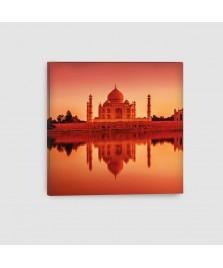 Taj Mahal, Agra, India - Quadro su Tela - Quadrato