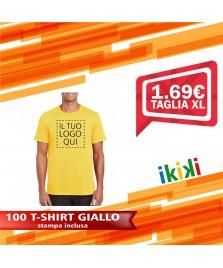 100 T-SHIRT GIALLO TAGLIA XL