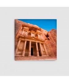 Al Khazna, Petra, Giordania - Quadro su Tela - Quadrato