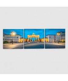 Berlino, Porta di Brandeburgo - Quadro su tela - 3 Pannelli