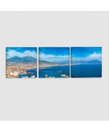 Napoli, Vesuvio - Quadro su tela - 3 pannelli