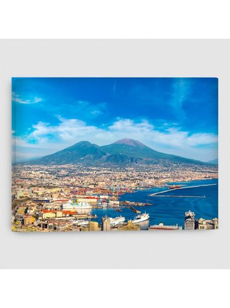 Napoli, Vesuvio - Quadro su tela - Rettangolare
