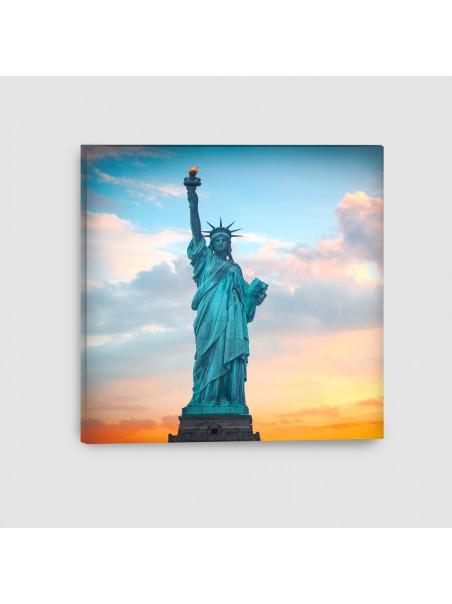 New York, Statua della Libertà - Quadro su tela - Quadrato