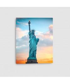 New York, Statua della Libertà - Quadro su tela - Verticale