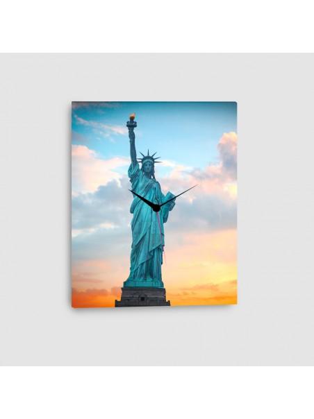 New York, Statua della Libertà - Quadro su tela - Verticale con