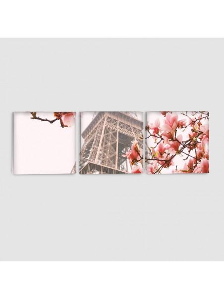 Parigi, Tour Eiffel - Quadro su tela - 3 Pannelli