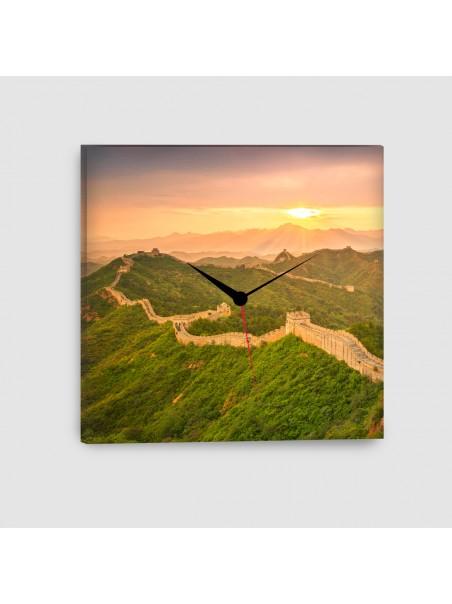Pechino, Muraglia Cinese - Quadro su tela - Quadrato con