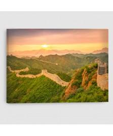 Pechino, Muraglia Cinese - Quadro su tela - Rettangolare
