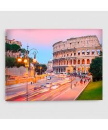 Roma, Colosseo - Quadro su tela - Rettangolare