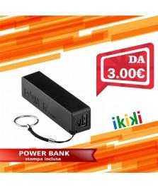 POWER BANK 2200 mah PERSONALIZZATA